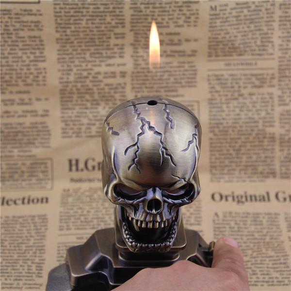 DH-A807 big hoe lighter belt desktop ashtray set lighter open flame wholesale