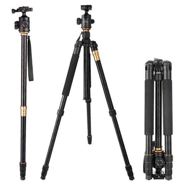 Freies DHL Q999 fotografisches bewegliches Stativ zum Einbeinstativ + zum Kugelkopf für digitale SLR DSLR Kamera Falten 43cm maximale Belastung 15Kg