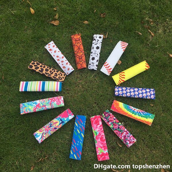 top popular Wholesale Multi-colors Neoprene Popsicle Sleeves Ice Holder Popsicle Case Popsicle Holder Freezer Ice Block Holder Ice Cream Tools 2019
