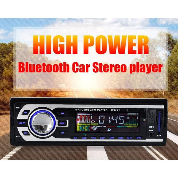 Bluetooth Car Stereo FM Radio MP3 Audio Player 5V Charger Car Electronics Subwoofer In-Dash 1 DIN WMAID3