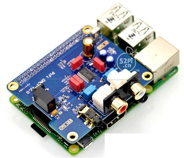 Freeshipping Raspberry pi 2 HIFI DAC I2S Interface Special HIFI DAC Audio Sound Card Modulecompatible raspberry pi B+ pi2