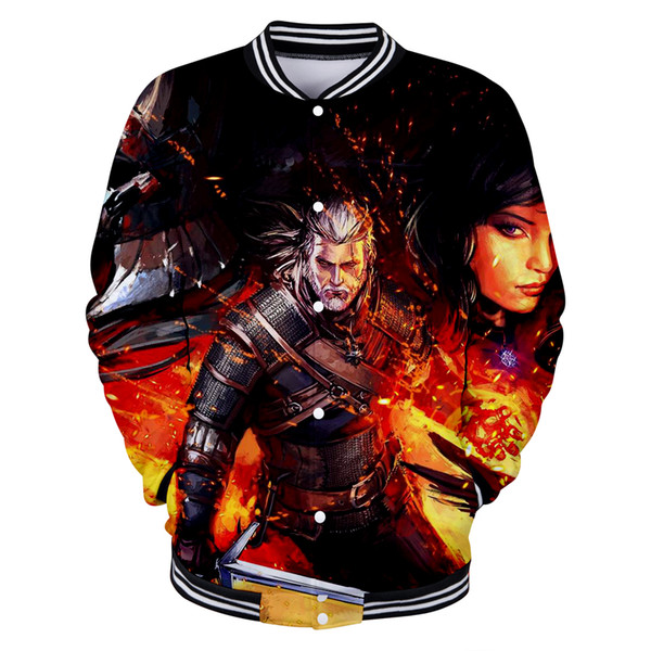 BTS The Wicther 3D Casual Baseball Jacket Hot Sale Cool Sweatshirt Game Autumn/Winter Men Fashion Funny Popular Plus Size 4XL