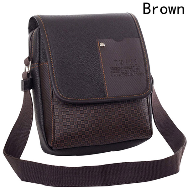 071c03215c9c Men s Bag Shoulder Crossbody Bags For Men Messenger Bag Men Leather Pu  Plaid Small Male Handbags