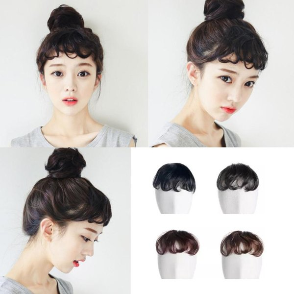 Pretty Girls On Clip In Capelli frontali Bang Fringe Hair Extension Pezzo sottile Drop Shippinng OC20