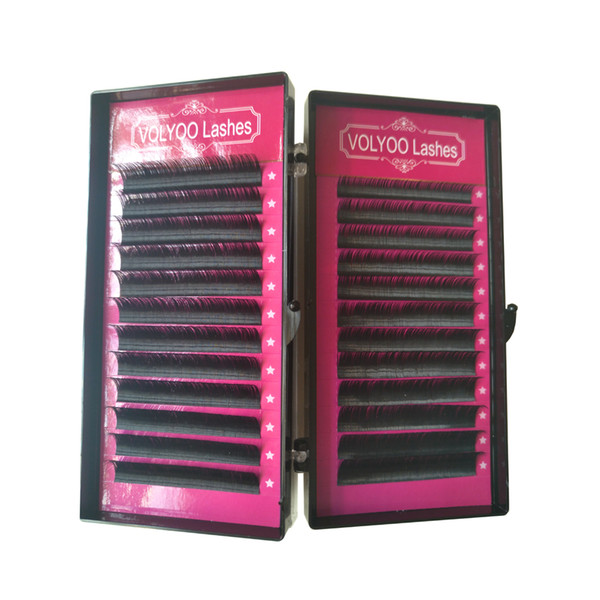 VOLYOO lash JBCD faux mink hair silk lashes eyelash extensions false mink eyelashes extensions 3d curl lashes fake lashes