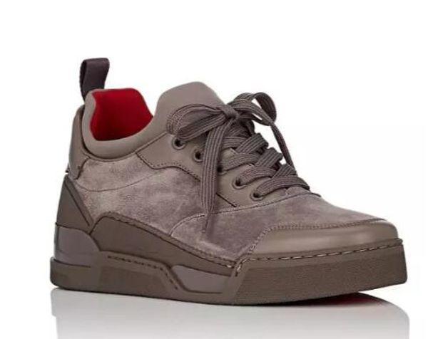 597a453dd2f New Famous Designer Men Wedding Shoes Red Bottom Sneakers Men Shoes  Aurelien Flat Sneakers Low Top Suede Trainers Outdoor Walking Sneaker  Loafers Mens ...