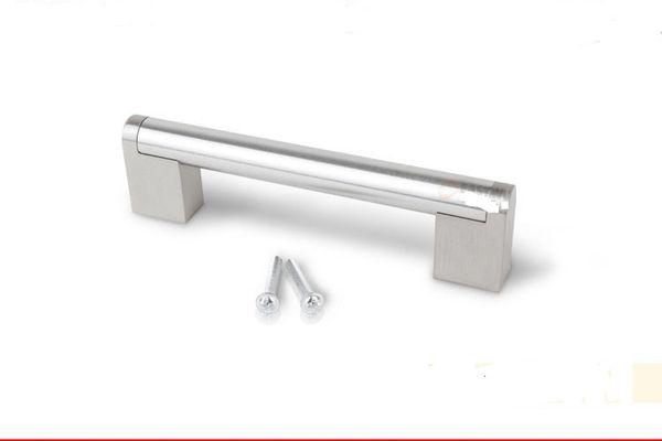 Retail Modern Satinless Steel T bar Square Foot Kitchen Cabinet Door Handles Drawer Pulls/Knobs Furniture Accessories