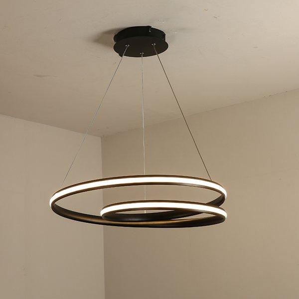 Moderna lampada a sospensione a led per sala da pranzo Cucina Alluminio cerchio anello lampadario Sospensione a sospensione a sospensione