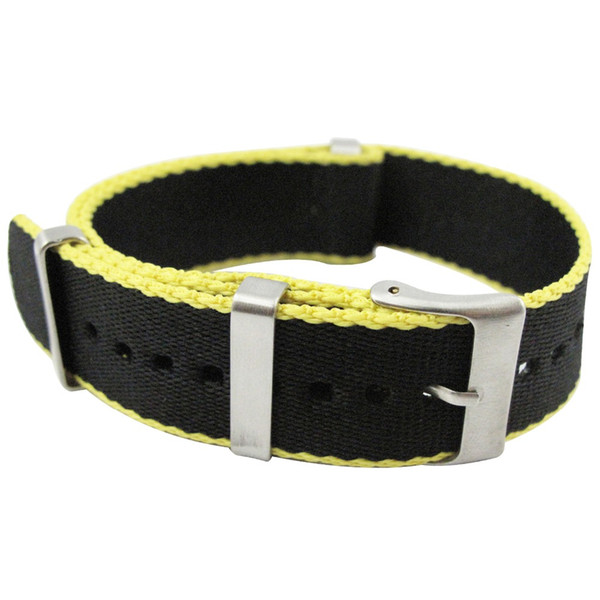 Hight Quality Black Nato Nylon Waterproof Men Watchband 20mm 22mm Casual James Bond 007 Watch Strap 30cm Army Sports Watch Band