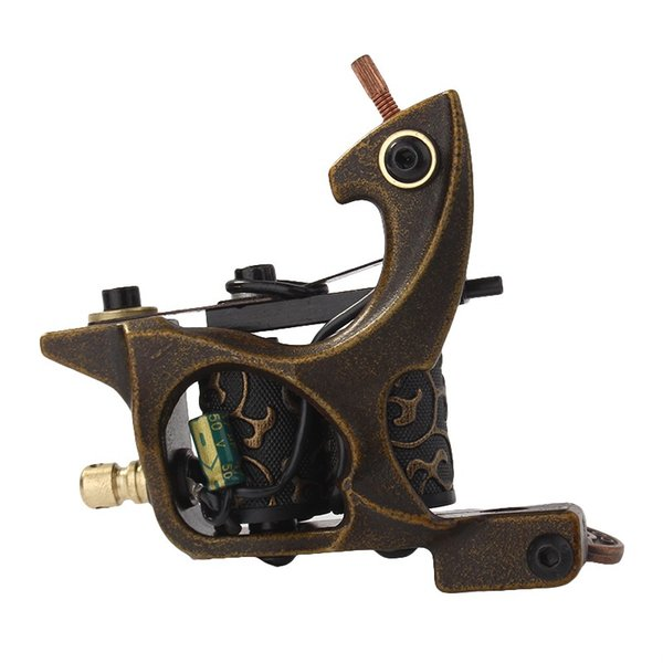 New Coil Tattoo Machine Copper 10 Wrap Coils Steel Tattoo Frame Tattooing Gun for Liner Shader for Tattoo Supply