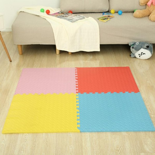 Stuoia strisciante per bambini Solid Leaf Shape Gioca a Puzzle Mat Foam Playmat Kids Safety Baby Room Pavimento Soft mat FFA184 9 COLORI 50PCS
