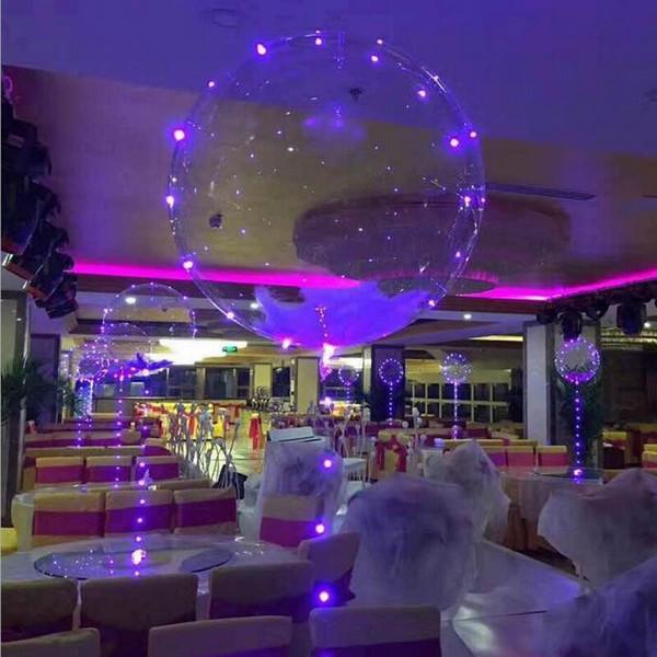 2019 Рождество световой LED Bobo воздушный шар гелий надувной шар прозрачный цветной освещение воздушные шары свадьба праздник украшения дома