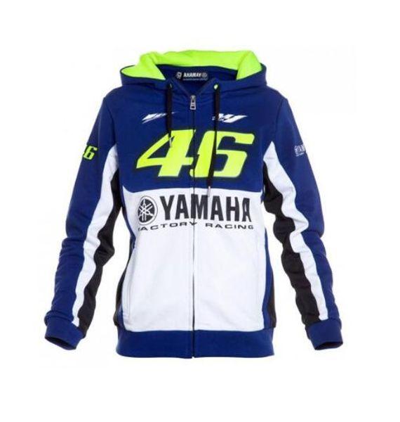 NEW Valentino Rossi VR46 Jackets for Yamaha M1 Hoodie Factory Racing Team Moto GP Adult Sports Sweatshirt Men's Zip-up Hoody