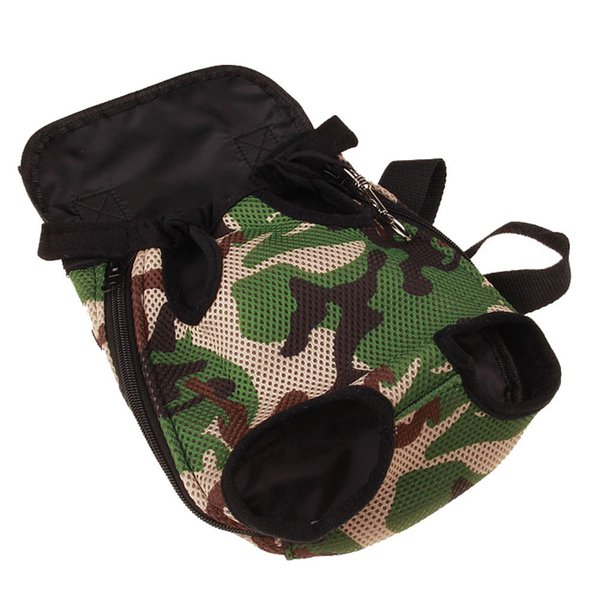 High Quality Pet Canvas Backpack Dog Bag Chest Pack Dog Carrier Legs Out Front Style Camouflage Men Women Pet Carrier Bags