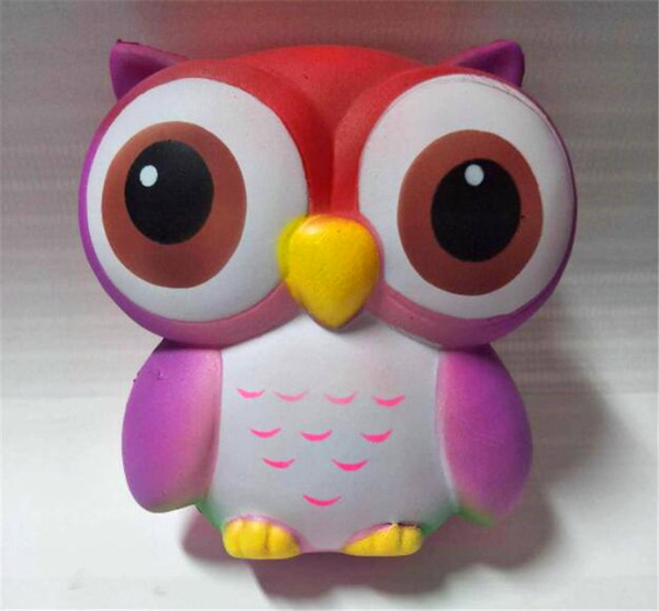 Wholesale Owl Toys Soft Slow RisingPhone Strap Squeeze Break Kid Toy Relieve Anxiety Christmas Gift Free DHLhot sale Owl Squishies Kawaii