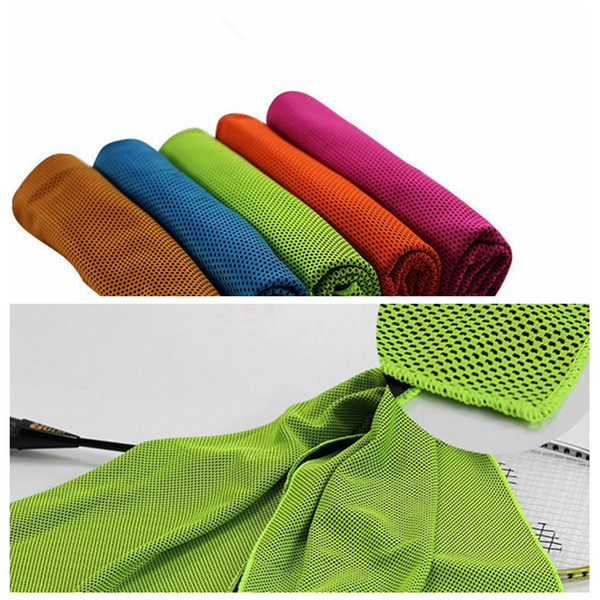 12x35inch Ice Cold Towel Sports Exercise Cool Quick Dry Soft Breathable Cooling Towel Instant Relief Chilling Neck Wrap Scarf