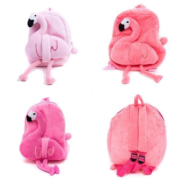 Cute Cartoon Flamingo Plush Backpack for kids Plush Flamingo School Bag  Children s Gifts Toy Doll Kindergarten Flamingo Baby Student Bags 6dc9c60b02ee5