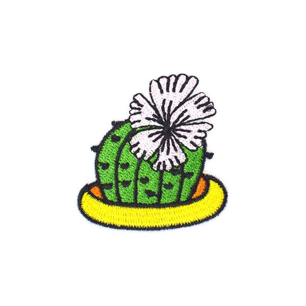 10 ADET Diy Demir on Aplike Kaktüs Çiçek Yama Giyim Rozeti için Ceket Nakış Yamalar Sıcak Eriyik Yapıştırıcı Giyim Aksesuarları için Yama