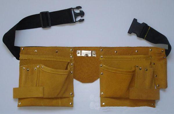 1PCS New Designer Waist Packs/Grip Double Leather Pouch Tool Belt Holder Electrician Construction Carpenter