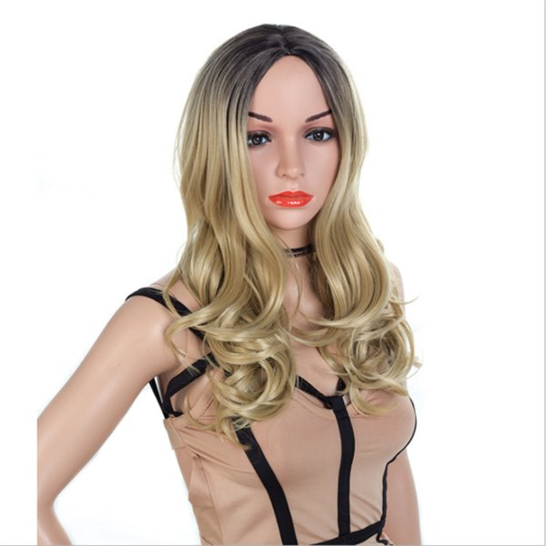 Fashion top 100% unprocessed virgin remy human hair long colorful ombre color long body wave full lace wig cheap for women