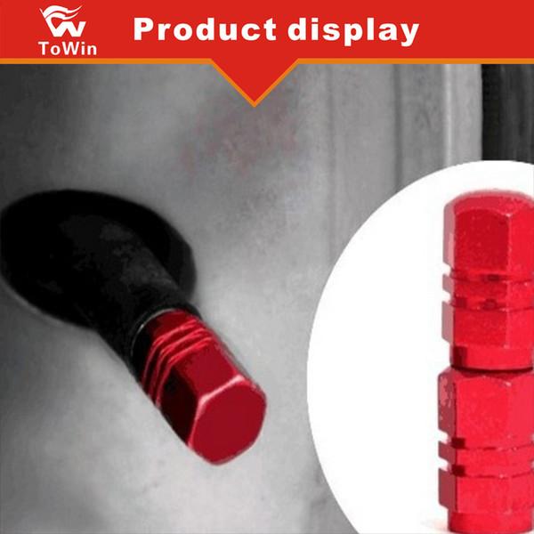 Valvola pneumatica in alluminio Valvole per pneumatici Gomme pneumatici Cappucci con chiusura ermetica Colore vendita calda / argento / rosso / blu / oro / nero.