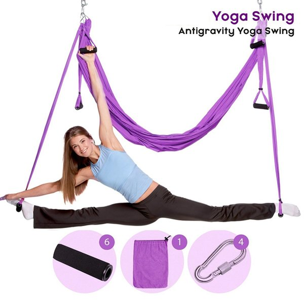 Aerial Yoga Swing Anti Gravity Yoga Hammock Fabric Flying Traction Device Hammock Set Equipment For Pilates Body Shapin