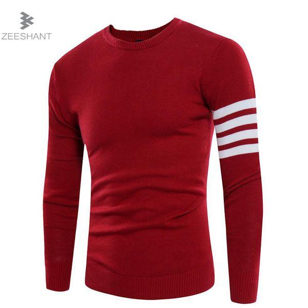 Compre Zeeshant Nuevos Suéteres Hombres Estilo De La Moda Otoño ...