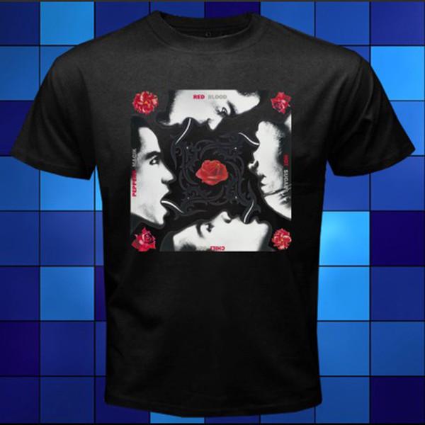 T-shirt rouge en papier RHCP avec le sucre de sang rouge Magik Taille S M L XL 2XL 3XL T-shirt Hommes Conception Hommes Manches Courtes Coton Personnalisé XXXL Group