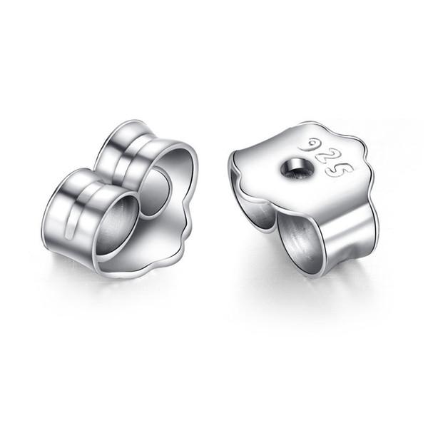 925 Sterling Silver Earring Ear Stud Backs Stoppers Ear Post Nuts Jewelry Findings Components Earnuts Earrings Back Accessories