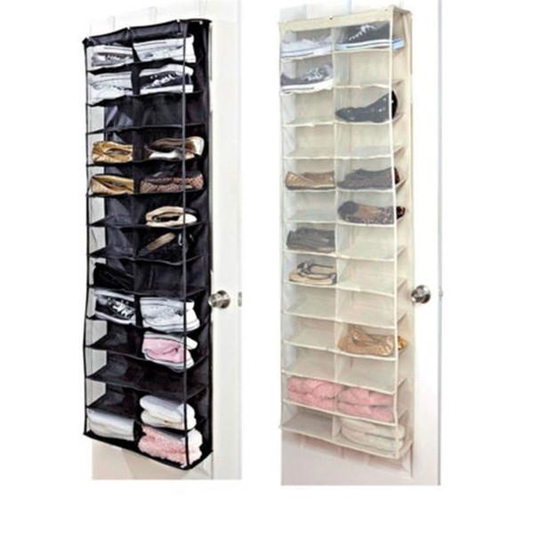 Door Hanging Shoe Rack.2019 Oxford 26 Pockets Door Hanging Shoes Storage Bag Rack Shelf Waterproof Holder Space Saving Tools Home Room Organizer 24my Z From Hehong1966