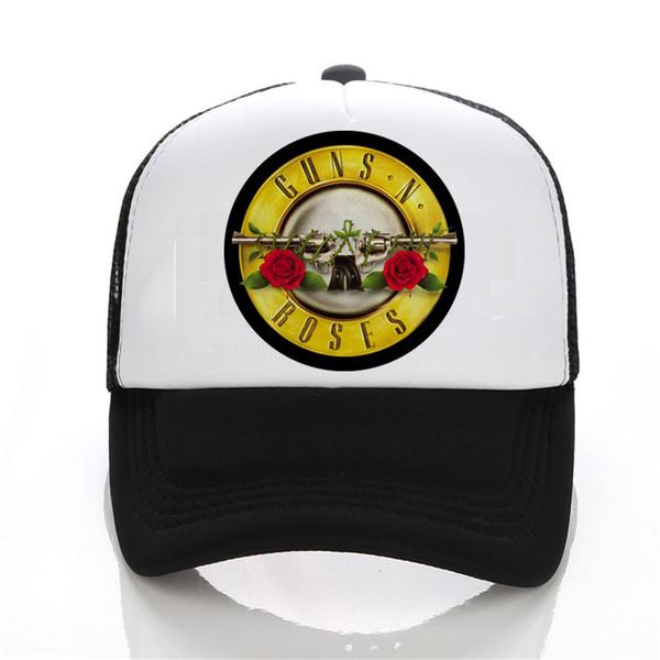 Fashion Cap Print Camicie Guns N Roses Led Zeppelin Berretto da baseball Beatles Uomo 3D Hip Hop nero Cappellino donna Snapback Bianco