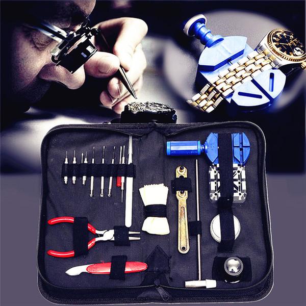 19 pcs Montre Outil de Réparation Kit Set Montre Case Ouvre Opener Lien Barre À Ressort Remover Tournevis Tweezer Watchmaker Dispositif Dédié