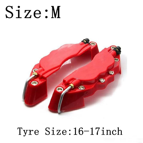 best selling M size 16-17inch tyre 3D Caliper covers Fit for Brake pliers covers ABS Calipers Front Rear Disc Cover Kit