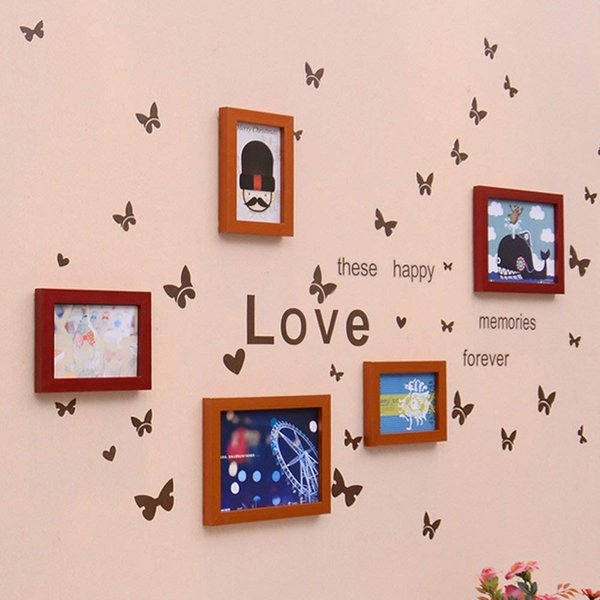 Photo Wall Photo Frame Set On The Wall,hanging Wall + Art,Polymer (5 Packs)