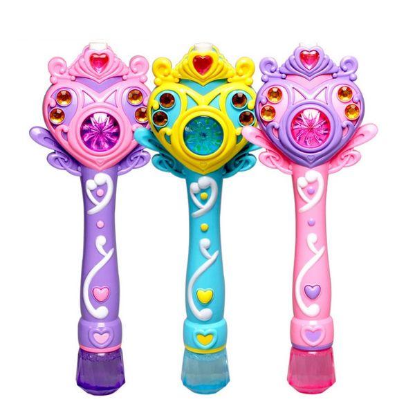 Kinder Geschenk vollautomatische Blase Maschine Zauberstab Blase Pistole Spielzeug mit Musik und Licht Kinder Party Geburtstag gif