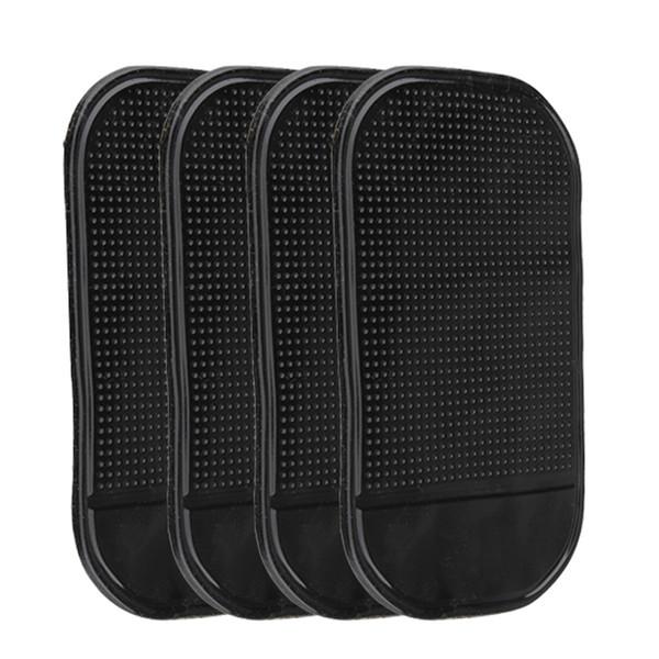 4pcs voiture anti-dérapant tapis noir gel de silice Magic Sticky Pad voiture tableau de bord antidérapant pad pour les téléphones cellulaires, lunettes de soleil, lecteurs MP3 ect.