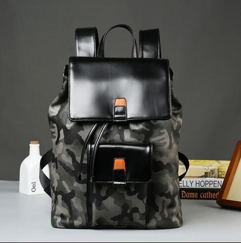Factory wholesale brand new high quality male Bag Backpack camouflage camouflage printed clamshell man backpack backpack fashion leather