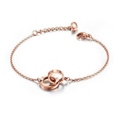 Nuovissimo 2018 accessori circolari del vento minimalismo donne moda braccialetto braccialetto moda cerchio collegamento a catena braccialetto TSL01