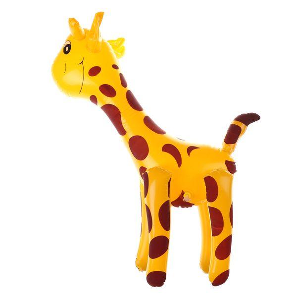 45*18cm Deer Shaped Balloons Infaltable Cartoon Animals PVC Giraffe Design Inflatable Toys Children