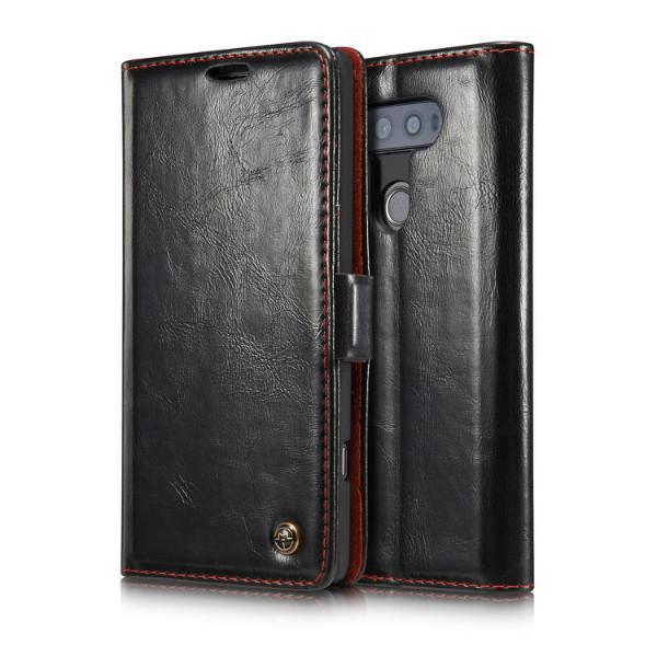 Wallet Case Pour LG G4 G5 G6 V10 V20 avec Stand En Cuir Flip Cover Ultra-mince De Luxe Téléphone Carte de Crédit Money Case Vintage Flip PU Couverture