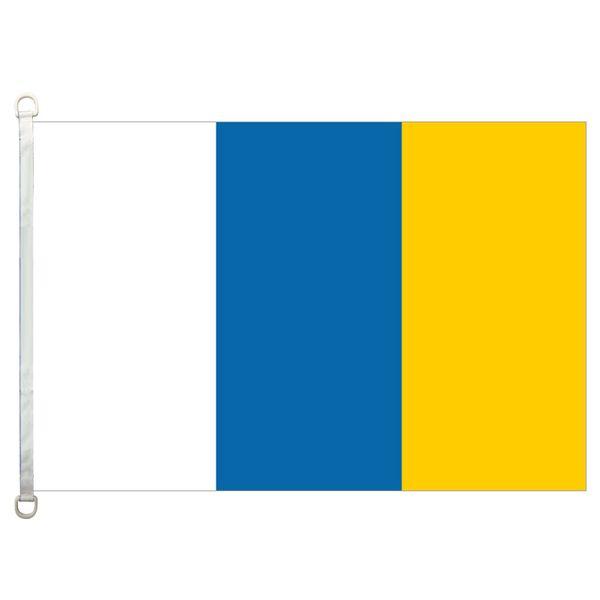 [Boa Bandeira] Ilhas Canárias sem crista Bandeiras 3X5FT-90x150cm Bandeira 100% Poliéster bandeiras do país, 110gsm Urdidura Tecido de Malha Ao Ar Livre bandeira
