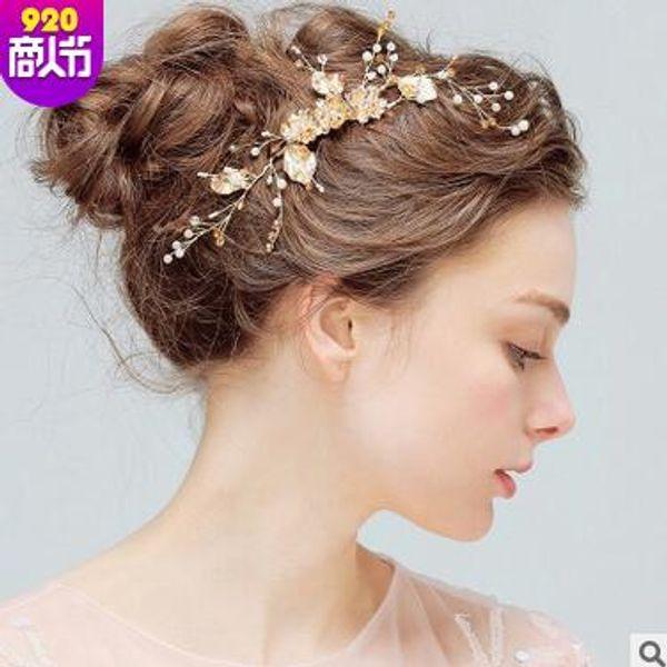 New hot bride hair accessories wedding accessories bride pearl hairpin flower crystal rhinestone hair clip free shipping