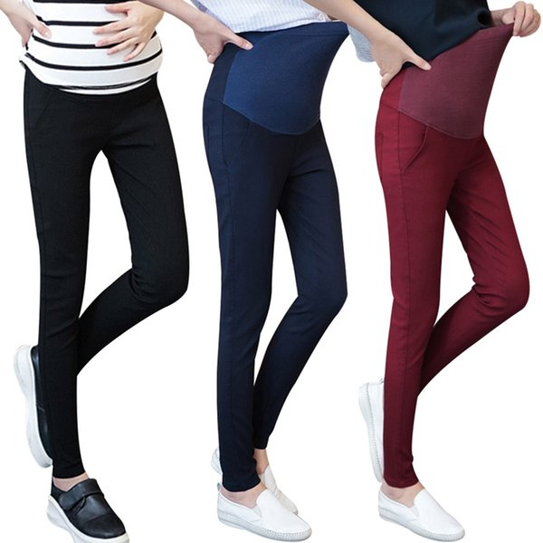 Winter New Pregnant Women Prop Belly Pants Pencil Pants Leggings Pants Large Size Solidcolor Fashion Maternity