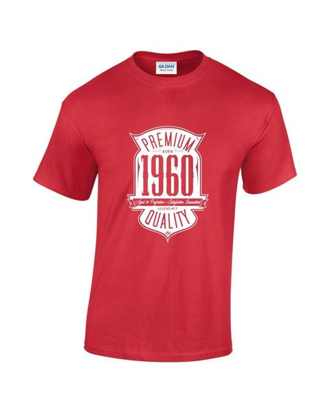 Aged To Perfection Nato nel 1960 57th Birthday / Gift Mens Printed T-Shirt Mens 2018 fashion Brand T Shirt O-Collo 100% cotone T-Shirt