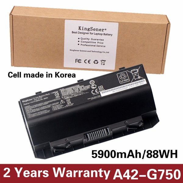 KingSener Corée Cell A42-G750 Batterie pour ordinateur portable ASUS ROG série G750 G750J G750JH G750JM G750JS G750JW G750JX G750JZ 15V 88WH