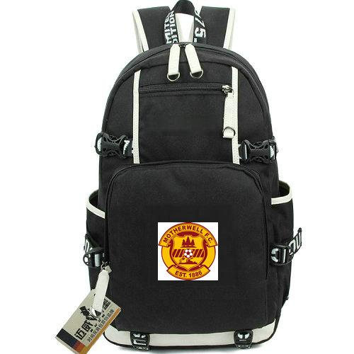 Fir Park backpack Motherwell FC school bag Football club daypack Soccer schoolbag Out door laptop rucksack Sport day pack