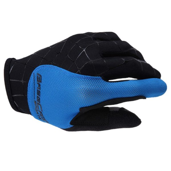 Spider Blue Running Gloves Basecamp Nylon breathable Full Finger Cycling Gloves for Bike M L XL
