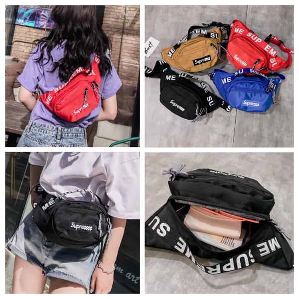 4 Farben Sup Mode Unisex Waistpacks Tasche Brust Pack Stuff Säcke Einzelner Schulterbeutel Frauen Kosmetiktasche