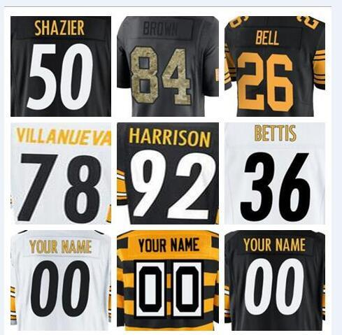 sports shoes d8e8b 61521 2018 Pittsburgh Antonio Brown Steeler Jersey Custom James Conner Le'Veon  Bell Authentic Sports Youth Kids American Football Jerseys 4xl Cheap Xxx  From ...