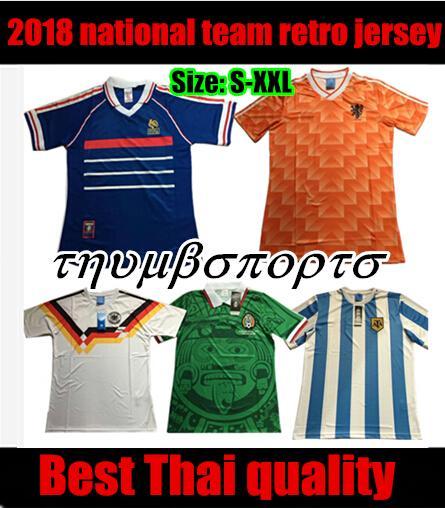 1988 HOLLANDA RETRO VINTAGE VAN BASTEN Tayland Kaliteli futbol formaları üniforma Futbol Formaları gömlek Nakış Logosu camiset